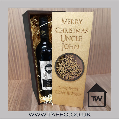 Black and Gold bottle gift box fit 70cl size - BOX ONLY