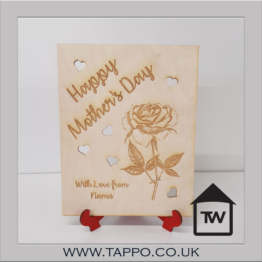 Mothers Day Wooden Card