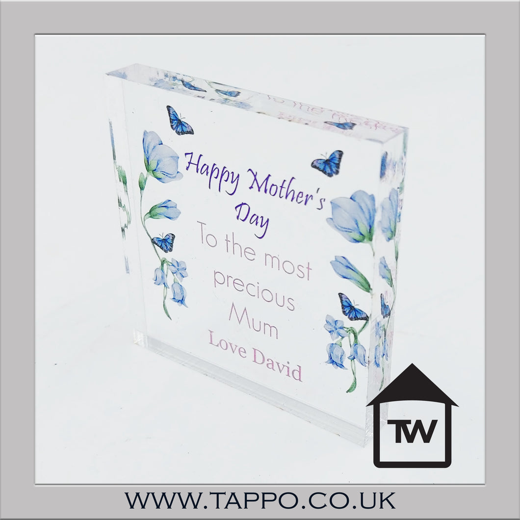 Cute Mini Clear acrylic block Any text