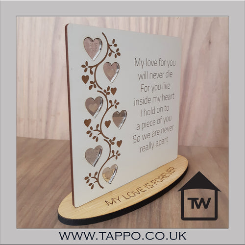 My love for you Bereavement memorial sympathy Keepsake