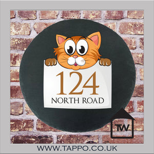House Numbers sign - CAT DESIGN 1