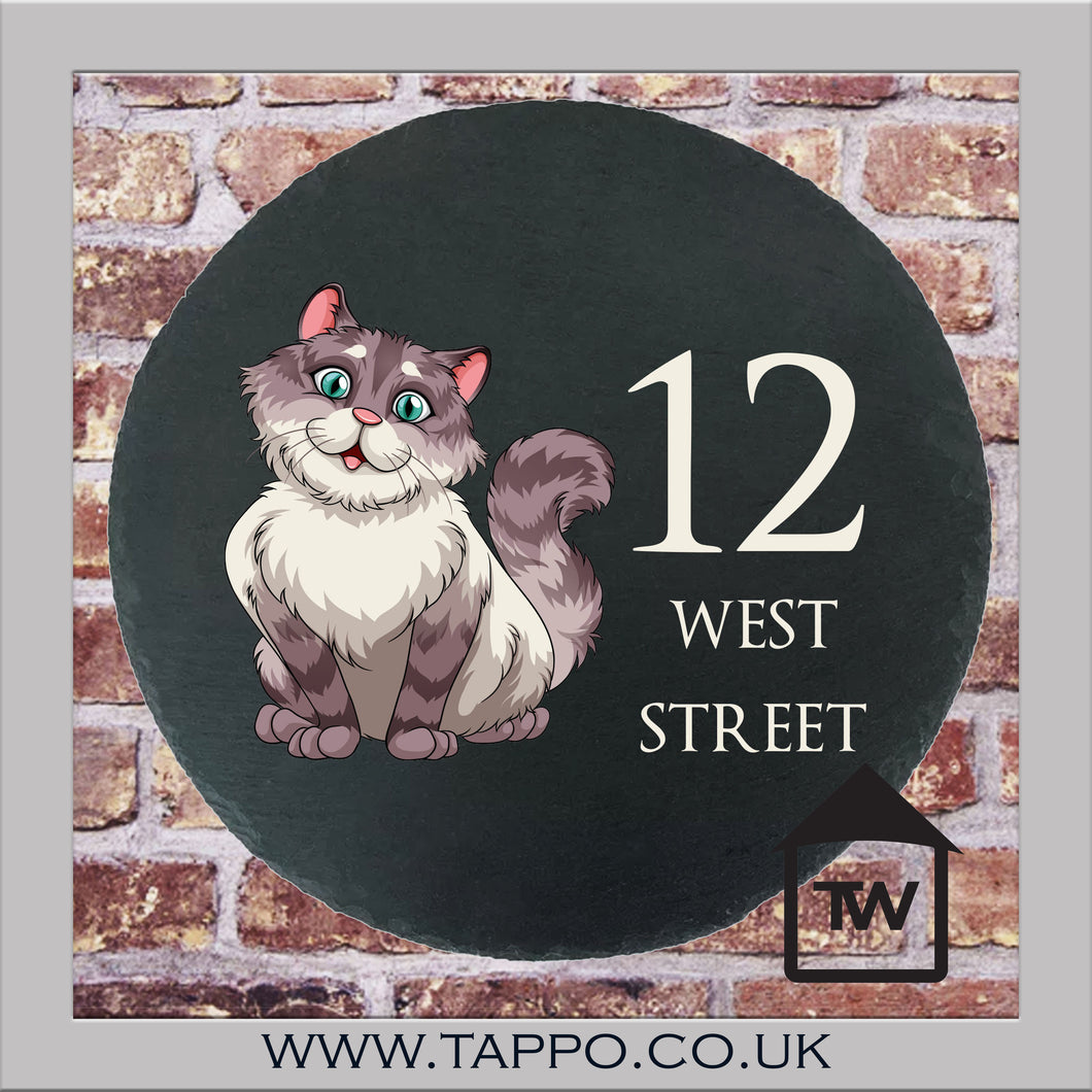 House Numbers sign - CAT DESIGN 2
