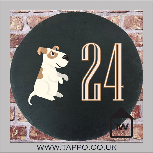 House Numbers sign - DOG DESIGN 1