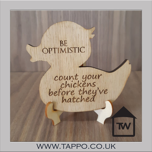 Optimist Duck/Chicken Coaster
