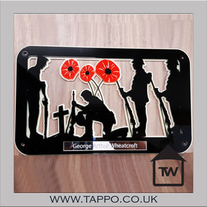 War memorial Remembrance Sunday Poppy Keepsake Sympathy Gift