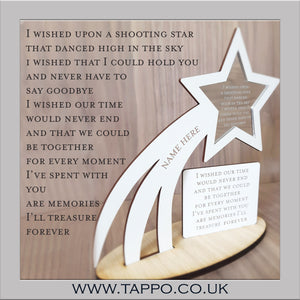 Shooting stars memorial keepsake sympathy gift