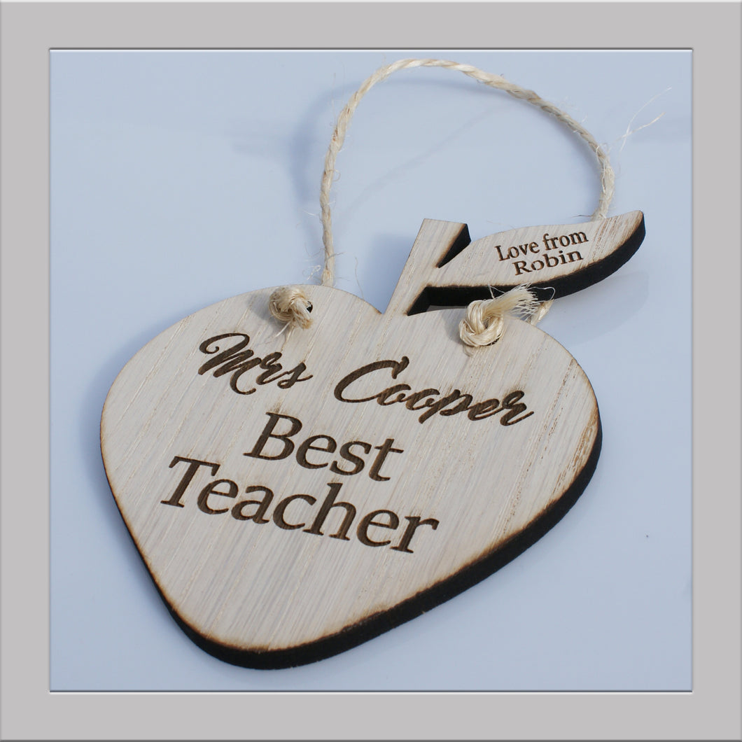 Teacher apple plaque