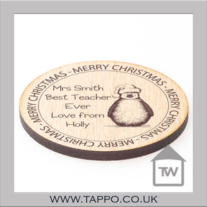 Christmas teacher Gift Coaster
