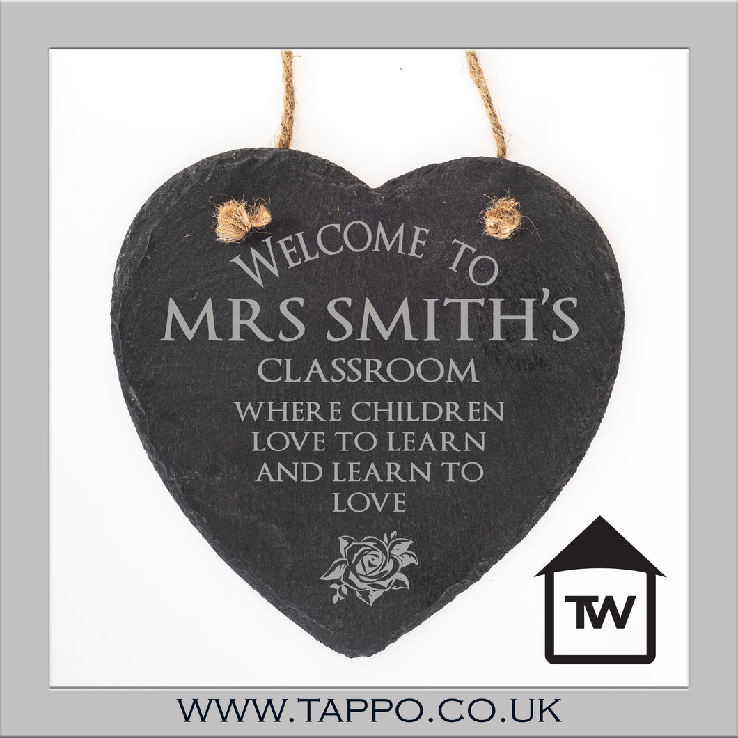 Welcome to the classroom slate teacher gift