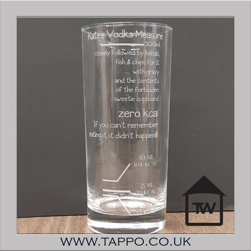 Personalised Dieters alcohol measure
