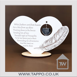 White Feathers keepsake