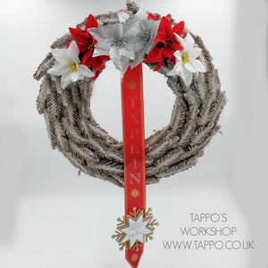 Large personalised Christmas wreath style 2