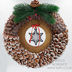Large personalised Christmas wreath style 3