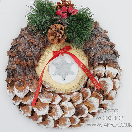 personalised Christmas wreath small