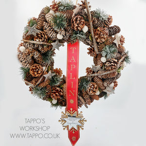 Large personalised Christmas wreath style 1