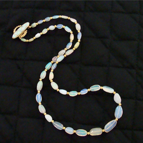 Graduated Welo Opal Nuggets Inlay Opal Toggle - Winnie Necklace