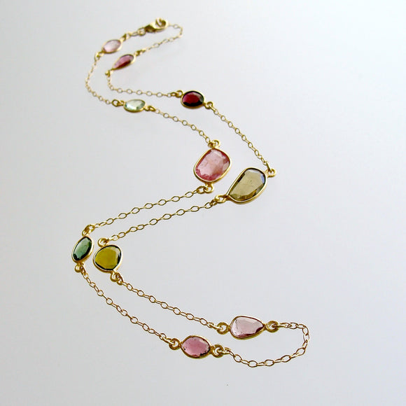 Tourmaline Stations Necklace - Tess Necklace