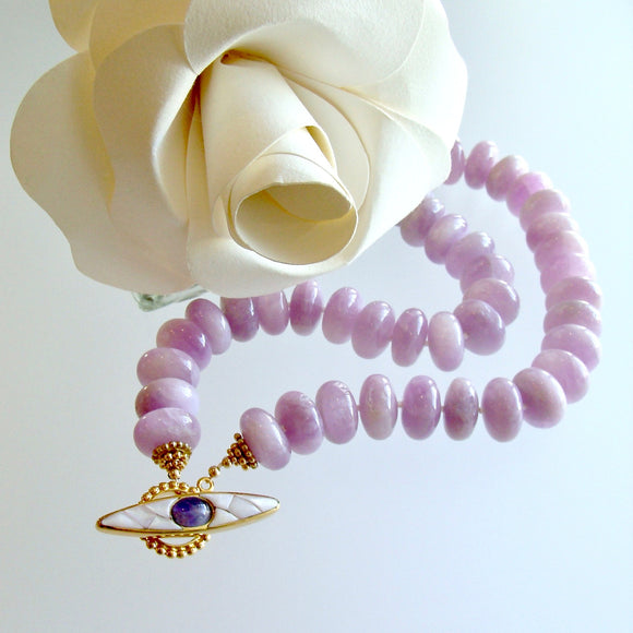 Orchid Kunzite Choker Necklace - Orianne IV Necklace
