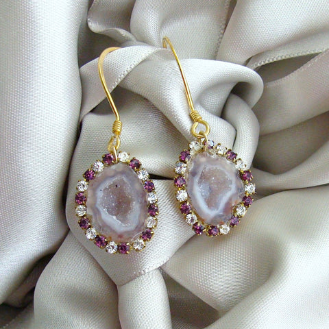 #1PM Panisi Geode Earrings