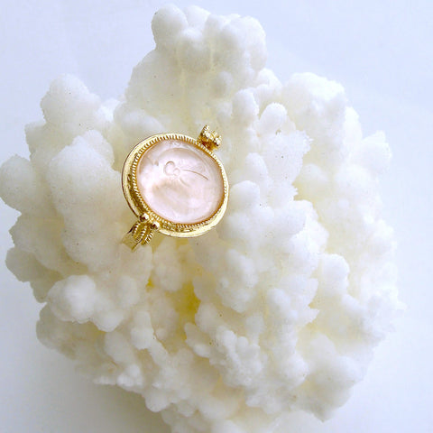 #2 Peu d'Abelle Pink Ring - Napoleonic Bee Ballet Pink Ring