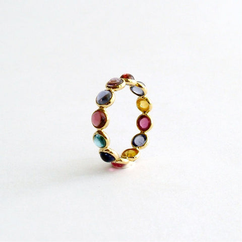 #1 Confetti Ring - Tourmaline Stacking Ring