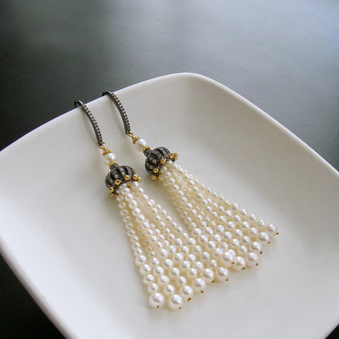 #4 Anais II Earrings - Pearl Tassel Earrings