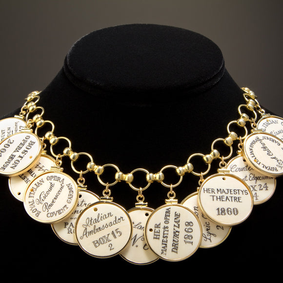 Scrimshaw Opera/Theatre Token Necklace - Cherish Necklace