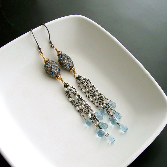 2-harmonie-earrings-diamond-blue-topaz-pearls-tassel-duster-earrings