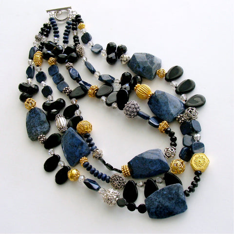#1 Campbell II Necklace - Dumortierite Onyx