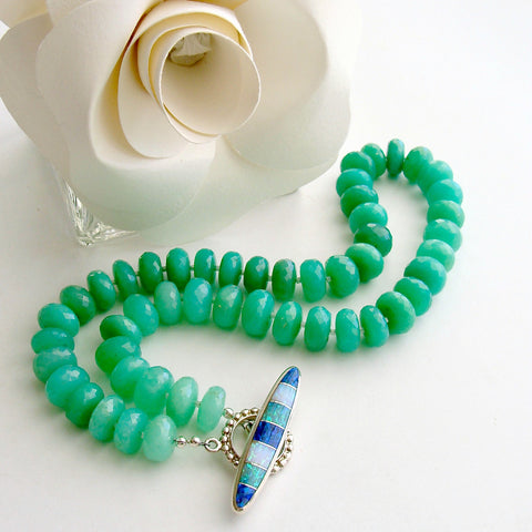#3 Courtney II Necklace - Chrysoprase Opal Inlay Toggle