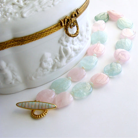 #2 Francesca Necklace - Aquamarine Morganite Beryl Opal