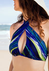 Hand Stitched Reversible Blue and Ocean - Jini® bikini piece