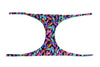Hand Stitched Reversible Turquoise and Feather - Jini® bikini piece