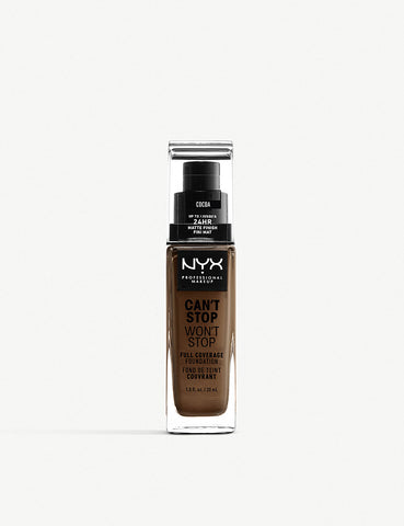 NYX PROFESSIONAL MAKEUP Can't Stop Won't Stop Full Coverage Foundation 30ml