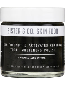 Raw Coconut & Activated Charcoal Tooth Whitening Polish