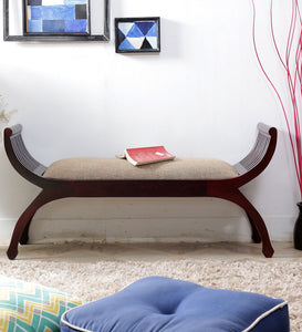 Lotus Shaped Rajasthani Crafted Wooden Two Seater Bench - Lakkadhaara