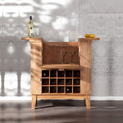 Bottled Up Bar Cabinet in Solid Wood