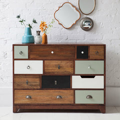 Solid Sheesham Wood Twelve Chest Of Drawers