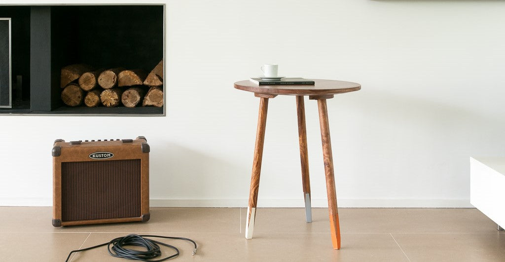 Pencil Solid Wood End Table