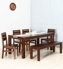 Teen Panti Six Seater Solid Wood Dining Set