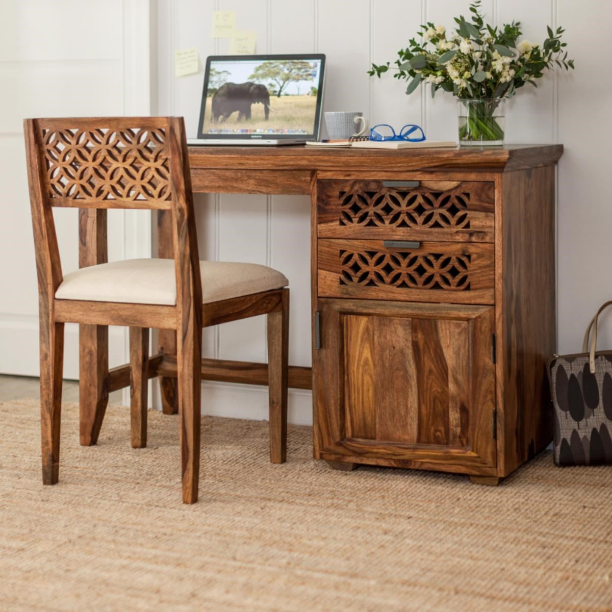 Solid wood study table with chair - lakkadhaara.com