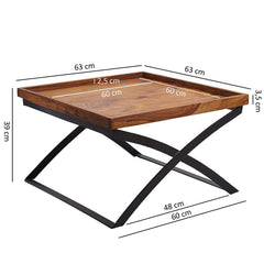Bastia Solid Wood Center Table