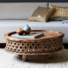 Carved Wooden Coffee Table