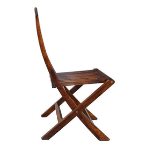 Lakkadhaara Solid Wood Foldable And Compact Chair In Honey Finish