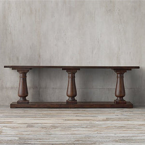 Melton Solid Wood Console Table In Walnut Finish