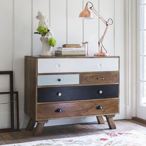 Solid Wood Mango Five Chest Of Drawers