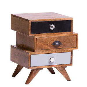 Solid Wood Bed Side Table With Drawer