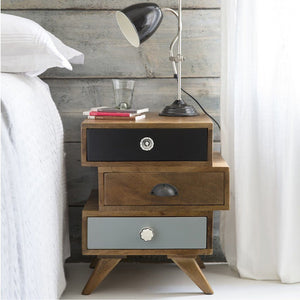 Home Decor Solid Wood Bed Side Table With Drawer