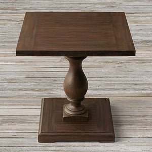 Melton Solid Wood End Table In Walnut Finish