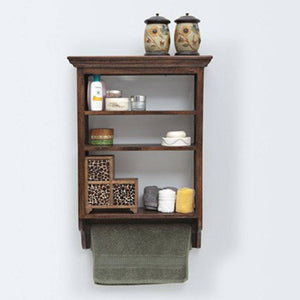 Rajasthani Solid Wood Kitchan Wall Rack